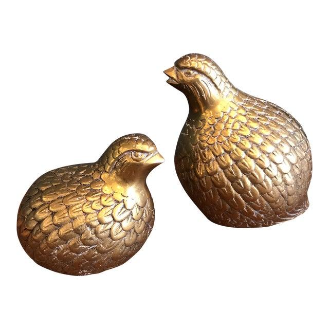 Brass Quails - A Pair - Image 1 of 6