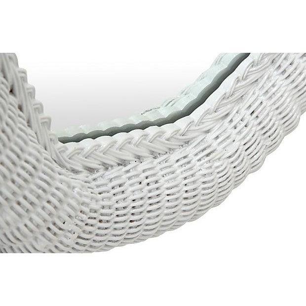Light Gray Rattan Floor Mirror - Image 4 of 6