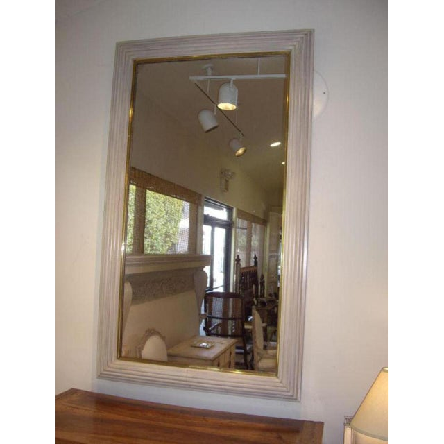 1940s French Art Deco Moderne Mirror For Sale - Image 5 of 10
