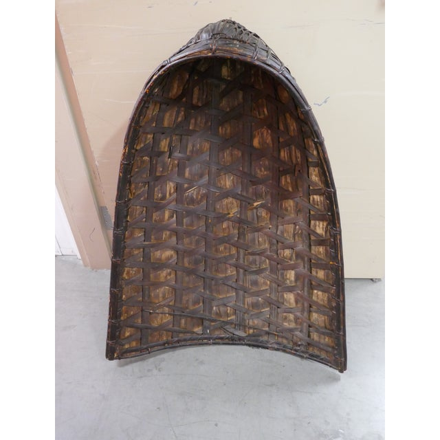 Antique Philippine Rice Basket & Rain Hood For Sale - Image 9 of 9