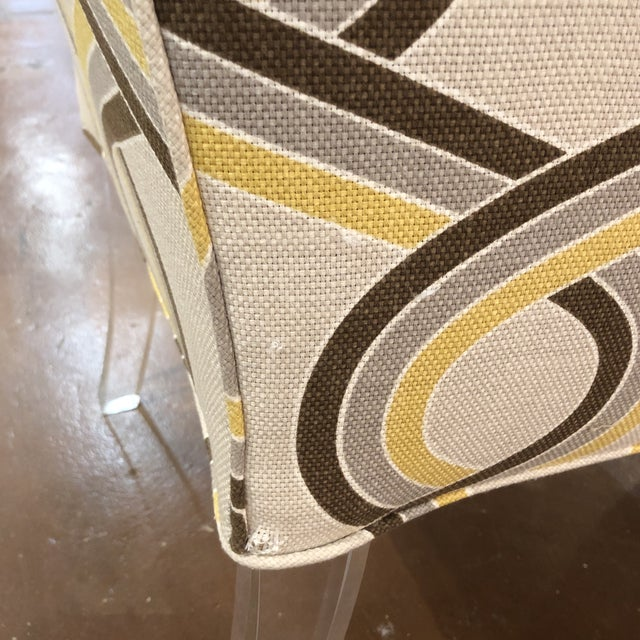Acrylic Modern Chairs on Acrylic Legs - a Pair For Sale - Image 7 of 13