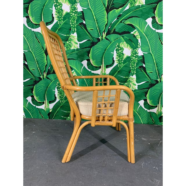 Magnificent Set Of Four Rattan Fan Back Arm Chairs Ibusinesslaw Wood Chair Design Ideas Ibusinesslaworg