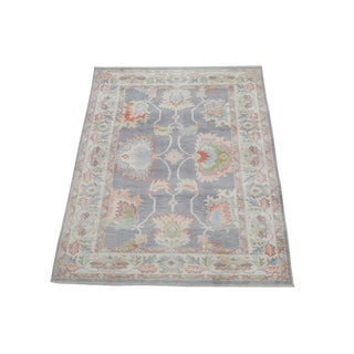 "Afghan Oushak Design Wool Rug - 6'3""x8'10"" For Sale"
