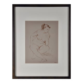 John Fenton Seated Nude Drawing For Sale