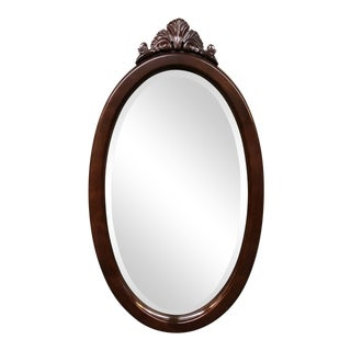 1990s English Traditional Oval Mirror