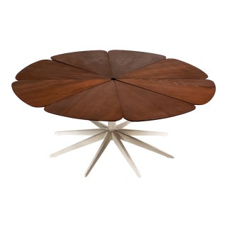 1960s Richard Schultz for Knoll Redwood Petal Coffee Table For Sale