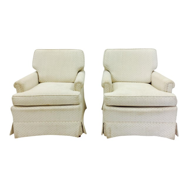 Vintage Henredon Club Chairs - a Pair - Image 1 of 6