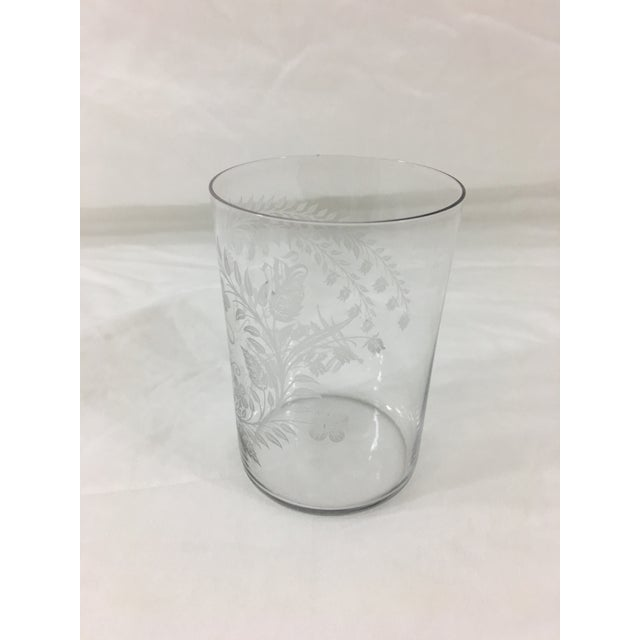 """Antique Etched Glass """"Mother"""" Cup For Sale - Image 4 of 6"""