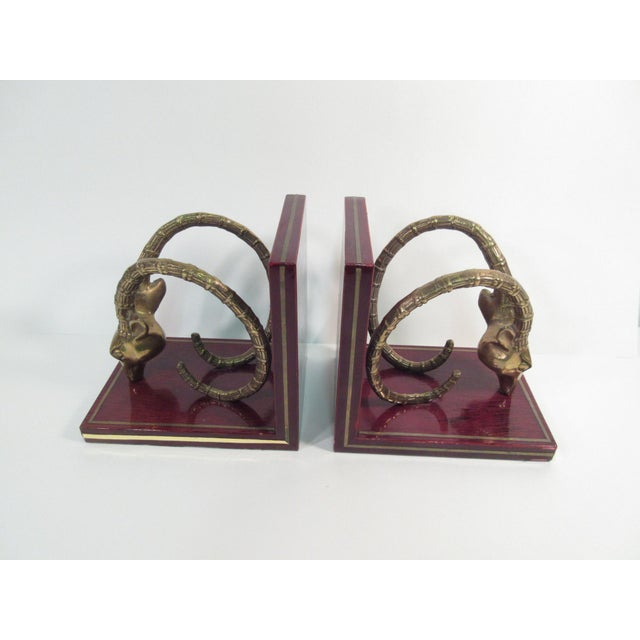 Vintage Ibex Brass Bookends - A Pair - Image 5 of 8