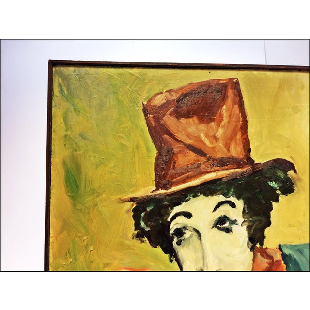 Vintage Impressionist Oil Painting of Clown - Image 8 of 11