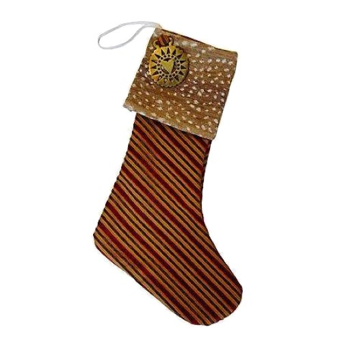 Christmas Stocking with Brass Medallion - Image 1 of 4
