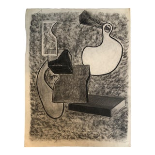 1950s Vintage Mid-Century Modern Abstract Drawing For Sale