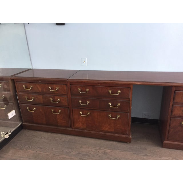 Brass Kimball Chippendale Wood & Brass Credenza For Sale - Image 7 of 8