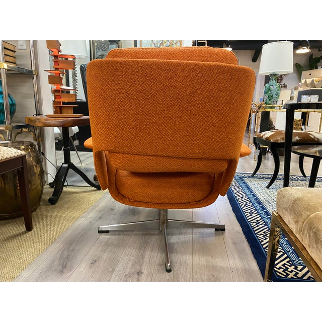 Mid 20th Century Mid-Century Womb Chair With Ottoman From Stendig Furniture For Sale - Image 5 of 11