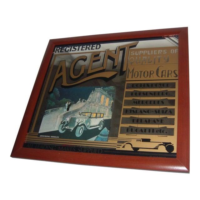 English Pub Mirror Advertising Motor Cars - Image 1 of 5