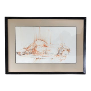 Mid Century Drawing of a Nude Woman
