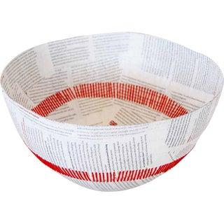 Stitched Paper Mache Bowl For Sale