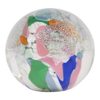 Janet Wolery Signed 1991 Art Glass Paperweight For Sale