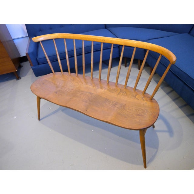 Mid-Century Modern 1950's Windsor Loveseat by Lucian Ercolani For Sale - Image 3 of 10