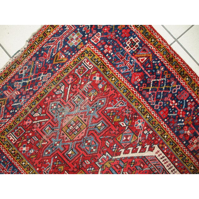 1920s Handmade Antique Persian Karajeh Runner - 3.5' X 10.8' - Image 2 of 10