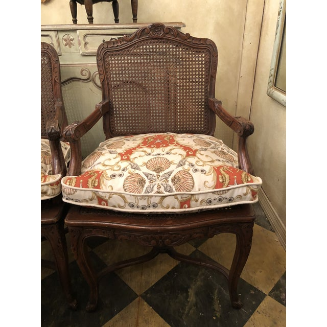 French Caned Chairs - a Pair For Sale - Image 4 of 11