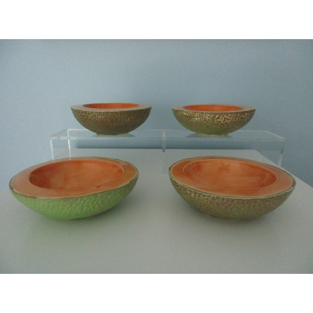 Vintage Cantaloupe Serving Bowls - Set of 4 For Sale - Image 13 of 13