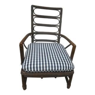 1950s Vintage Heywood-Wakefield Rattan Armchair For Sale