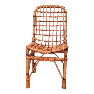 Mid-Century Rattan / Bamboo Chair For Sale