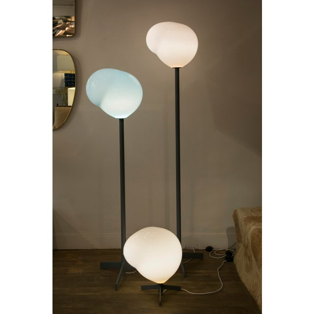 """Gray """"Nubes"""" Table Lamp, Galerie Blanchetti Edition 2018 For Sale - Image 8 of 10"""