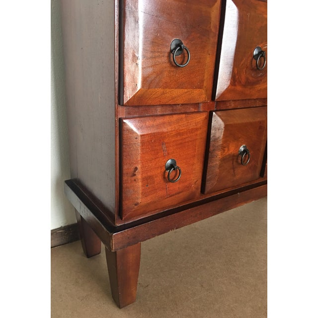 Vintage Mahogany Apothecary 20 Drawer Cabinet For Sale - Image 9 of 11