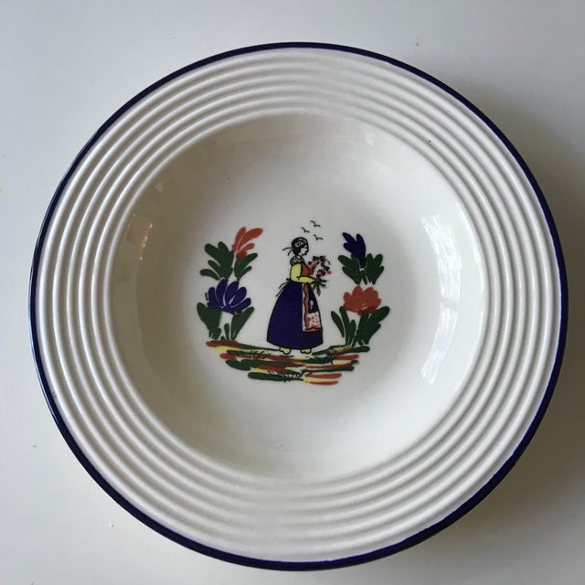 1980s Varages French Quimper Style Dish For Sale - Image 5 of 5
