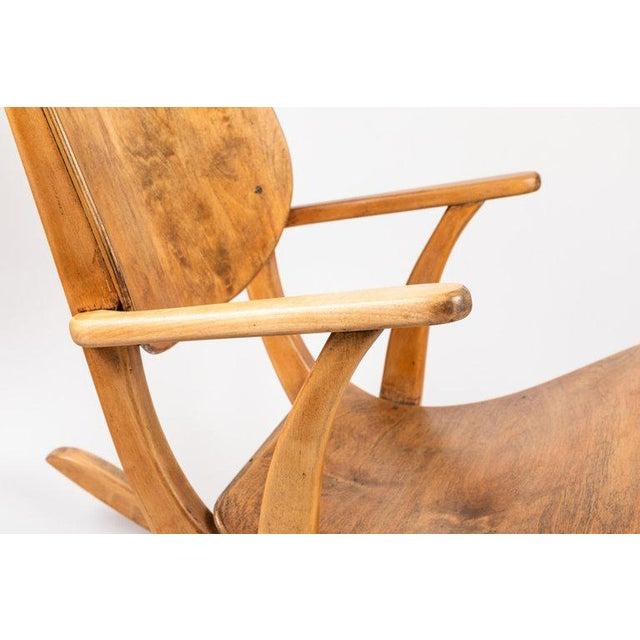 Wood 1940s Vintage Ilmari Tapiovaara Rocking Chair For Sale - Image 7 of 13