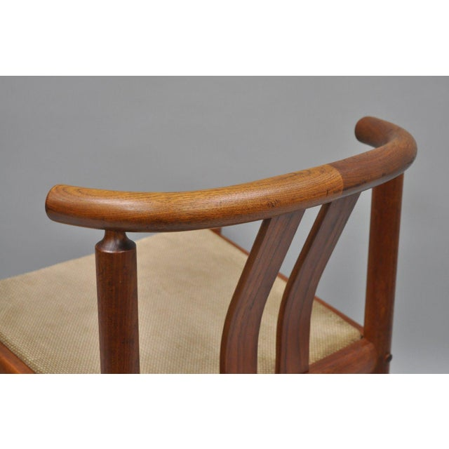 Uldum Danish Modern Teak Curved Back Rosewood Inlay Dining Chairs - Set of 6 For Sale - Image 9 of 12