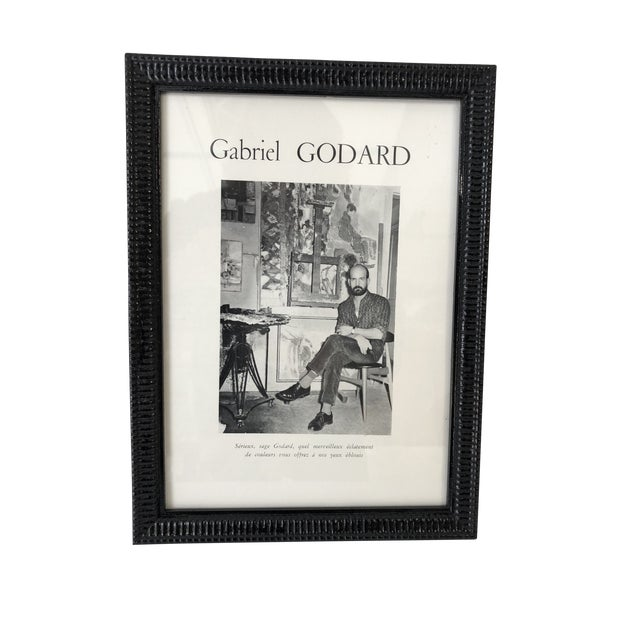 Gabriel Godard Artist Mid-Century Abstract Paintings For Sale