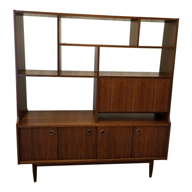 1960s Mid Century Bookcase For Sale