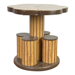 1960s Richard Gross Modernist Side Table/Pedestal With Resin Top For Sale