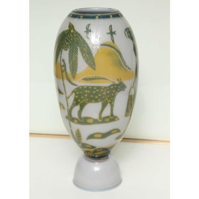 Mid-Century Modern Swedish Studio Glass Vase by Wilke Adolfsson For Sale - Image 3 of 9