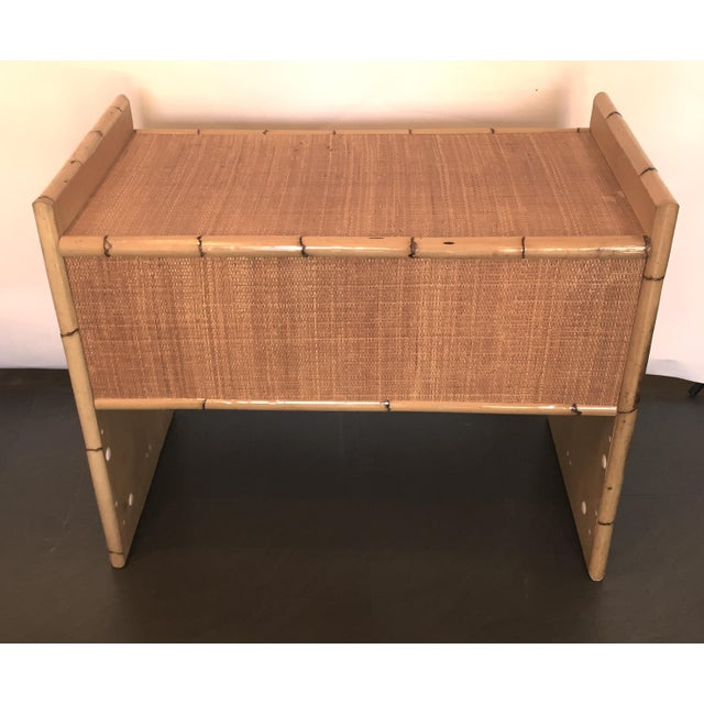Rattan and Bamboo Bar with Server & Drawer - Image 4 of 4