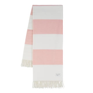 Blush Rugby Stripe Throw For Sale