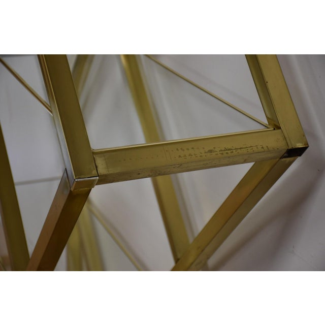 Milo Baughman Style Brass Etagere For Sale - Image 5 of 9