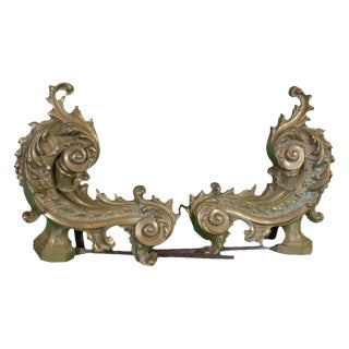 1900 French Chenets / Andirons - a Pair
