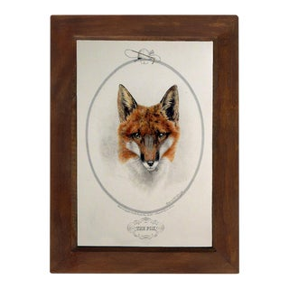 """The Fox"" Contemporary Reproduction Print, Framed For Sale"