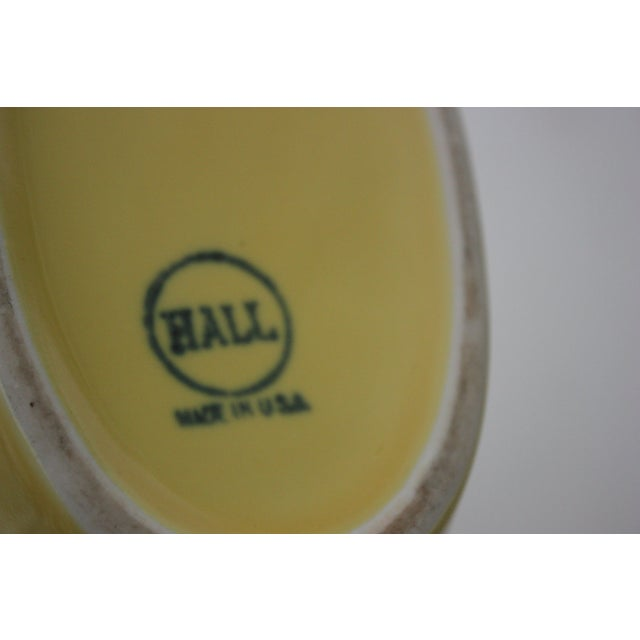 Mid-Century Hall Yellow Pitcher - Image 4 of 4