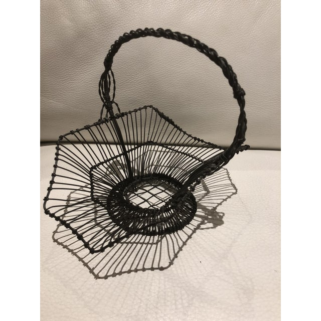 Farmhouse French Wire Basket For Sale - Image 3 of 6