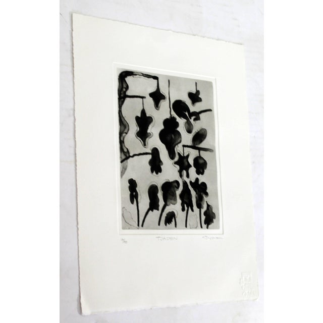 Mid-Century Modern Unframed Lithograph Signed Gary Stephen Tjaden Numbered 13/48 For Sale - Image 3 of 6
