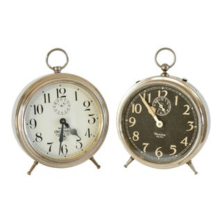 Vintage Alarm Clocks - a Pair