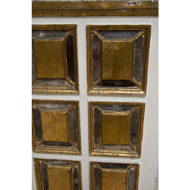 Gold Pair of Italian White and Parcel-Gilt Chests For Sale - Image 8 of 11