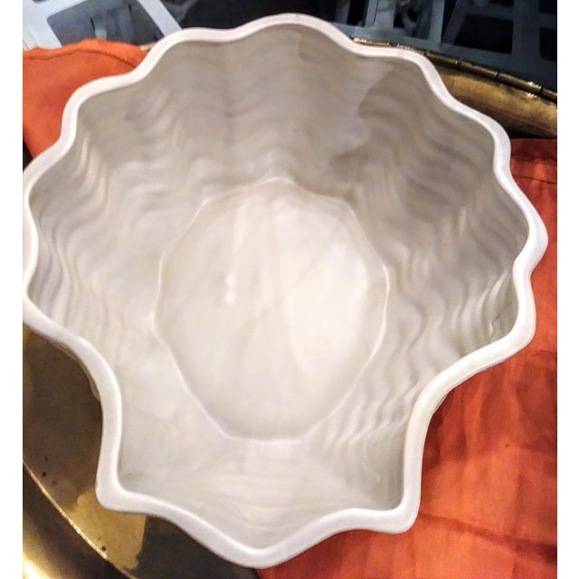 Gorgeous vintage Fitz and Floyd very large clam shell soup tureen. This beautiful tureen will be a conversation starter at...