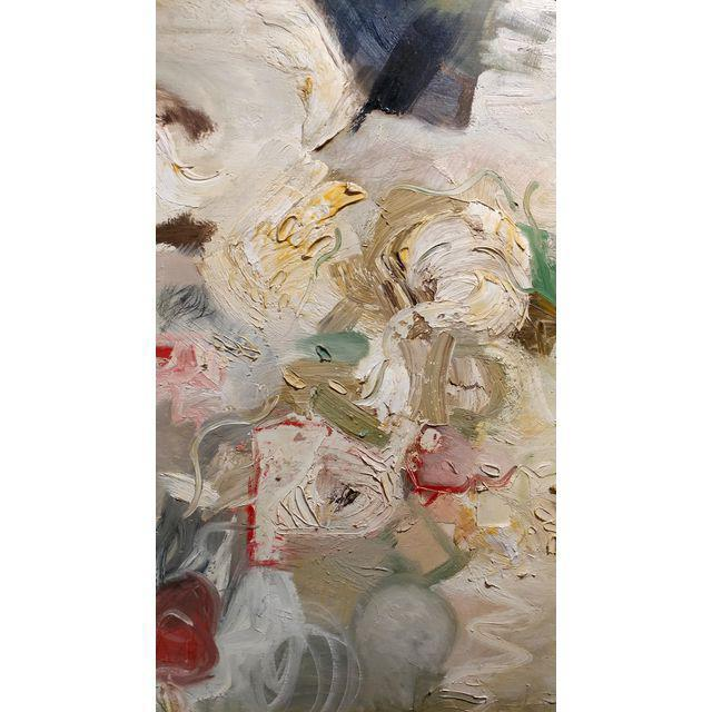 Paint Joan Jacobs - 1959 Abstract Oil Painting For Sale - Image 7 of 11