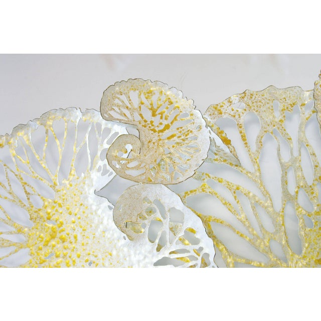 Fabio Ltd White and Gold Lotus Iron Wall Sculpture by Fabio Ltd For Sale - Image 4 of 6